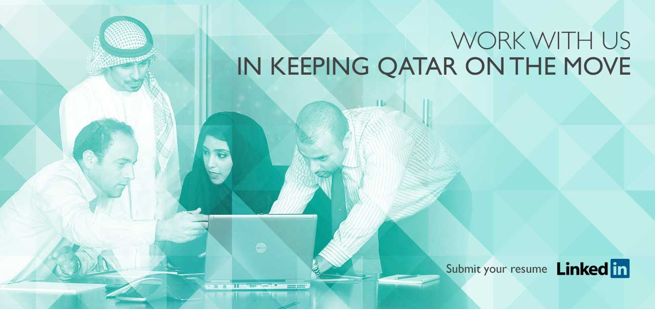 Work with Us , In keeping Qatar on the Move
